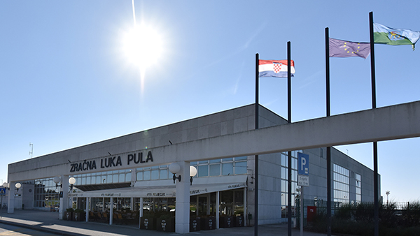 pula airport map