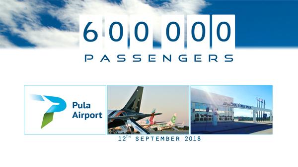 600 tisuća putnika u Zračnoj luci Pula